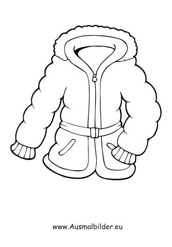 Ausmalbilder Dicke Winterjacke Kleidung Malvorlagen