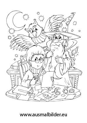 Ausmalbilder Merlin Der Zauberer Mrchen Malvorlagen