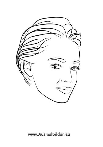 Ausmalbilder Kurzhaarschnitt Gesichter Und Frisuren