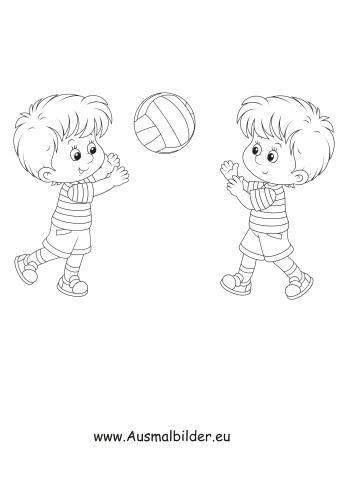 ausmalbild handball spielen kostenlos
