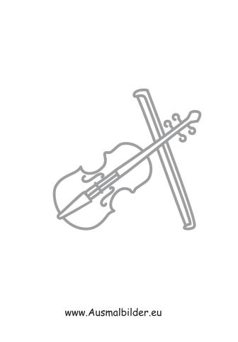 Ausmalbilder Geige Mit Bogen Musik Malvorlagen