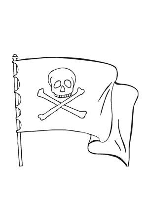 Ausmalbilder Piratenfahne Totenkopf Piraten Malvorlagen