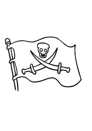 Ausmalbilder Piratenfahne Mit Gekreuzten Sbeln Piraten
