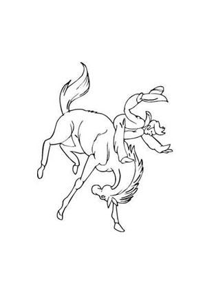 Ausmalbilder Rodeo Pferde Malvorlagen