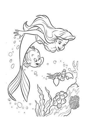 disney malvorlagen arielle - zeichnen und färben