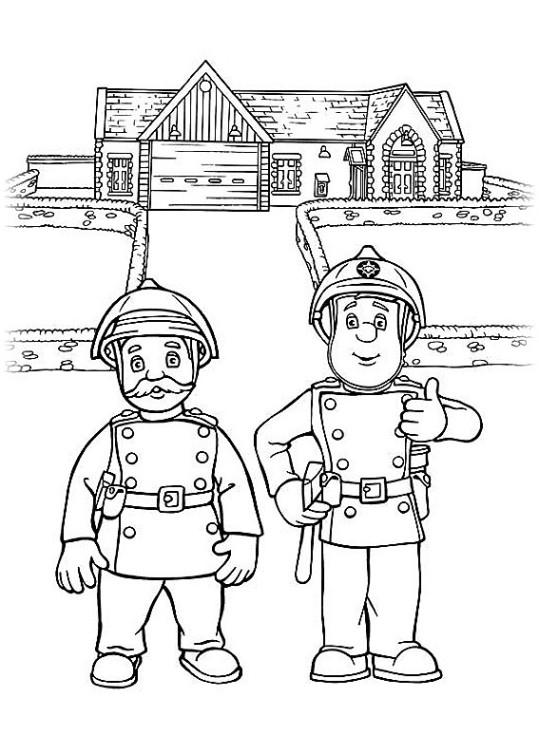 Ausmalbilder Fr Kinder Feuerwehrmann Sam 8