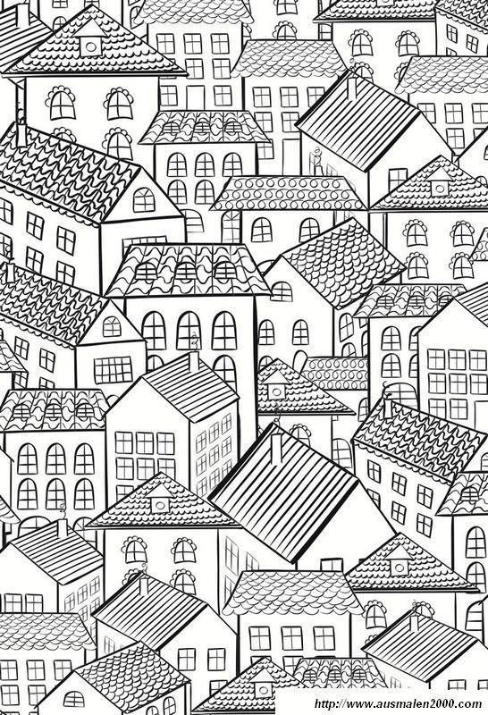 Ausmalbilder Fr Erwachsene Bild Stadt Ausmalbilder