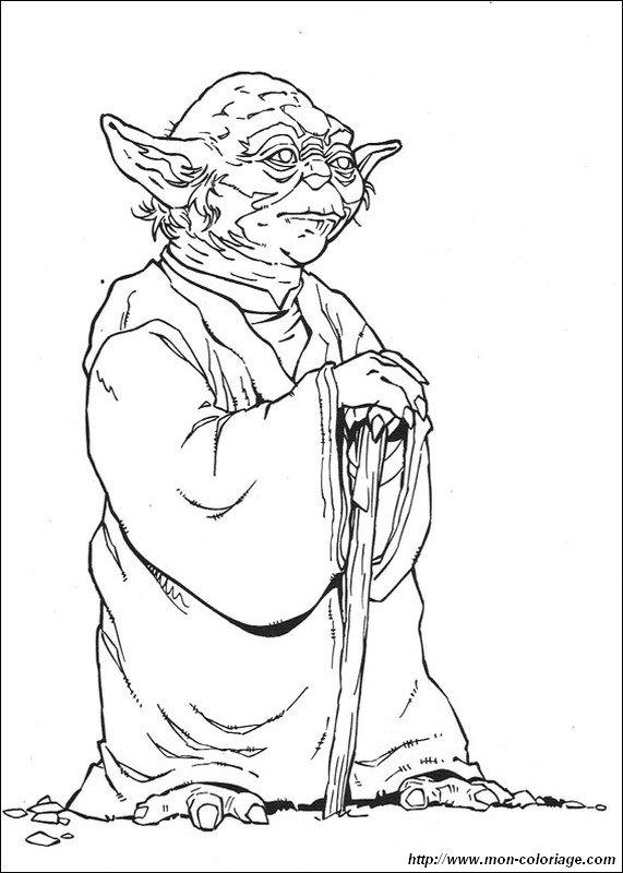 Ausmalbilder Star Wars Bild Meister Yoda