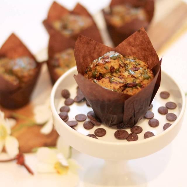 Dieser MatchaChocolate Chip Muffin ist die perfekte Kombination aus herbhellip