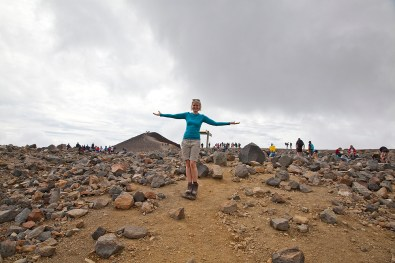 Katharina am Gipfel