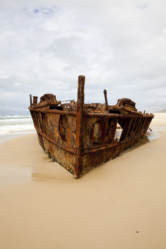 Maheno Schiffwrack auf Fraser Island