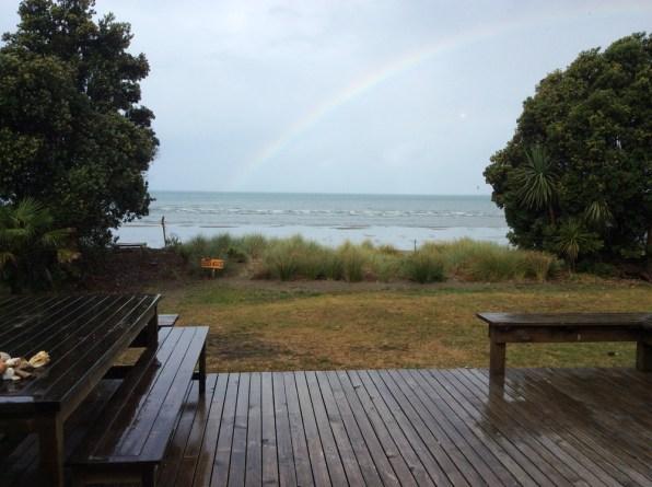 Regenbogen im Beach-House