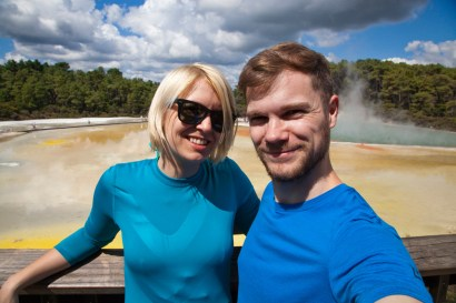 Selfie am Champagne Pool