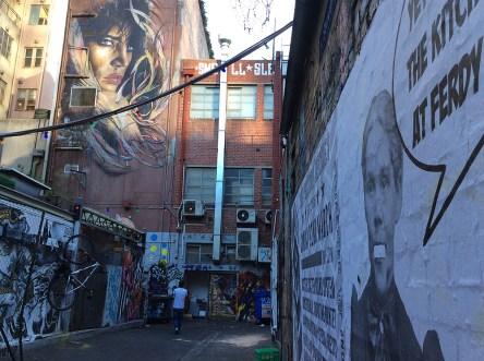 Streetart in den Gassen Melbournes