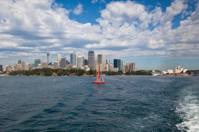 Sydney Skyline vom Hafen