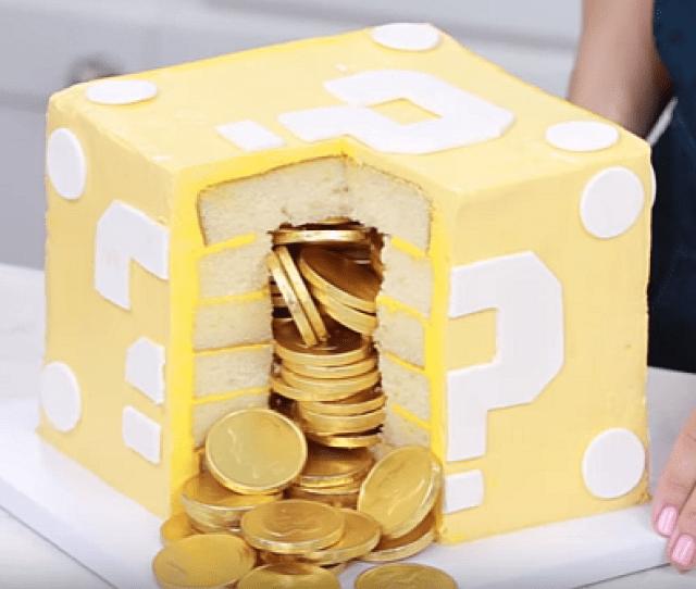 Rosanna Pansino M Subscribers Subscribe  C B Mario Question Block Surprise Cake Nerdy Nummies