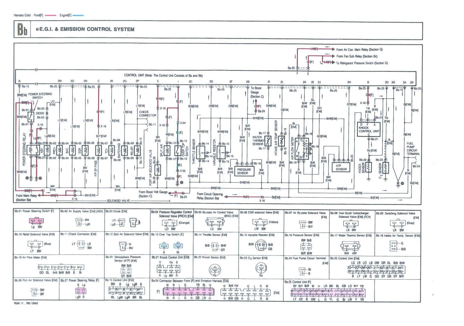 Oxygen Sensor Wire 88 Jap Spec Rx7