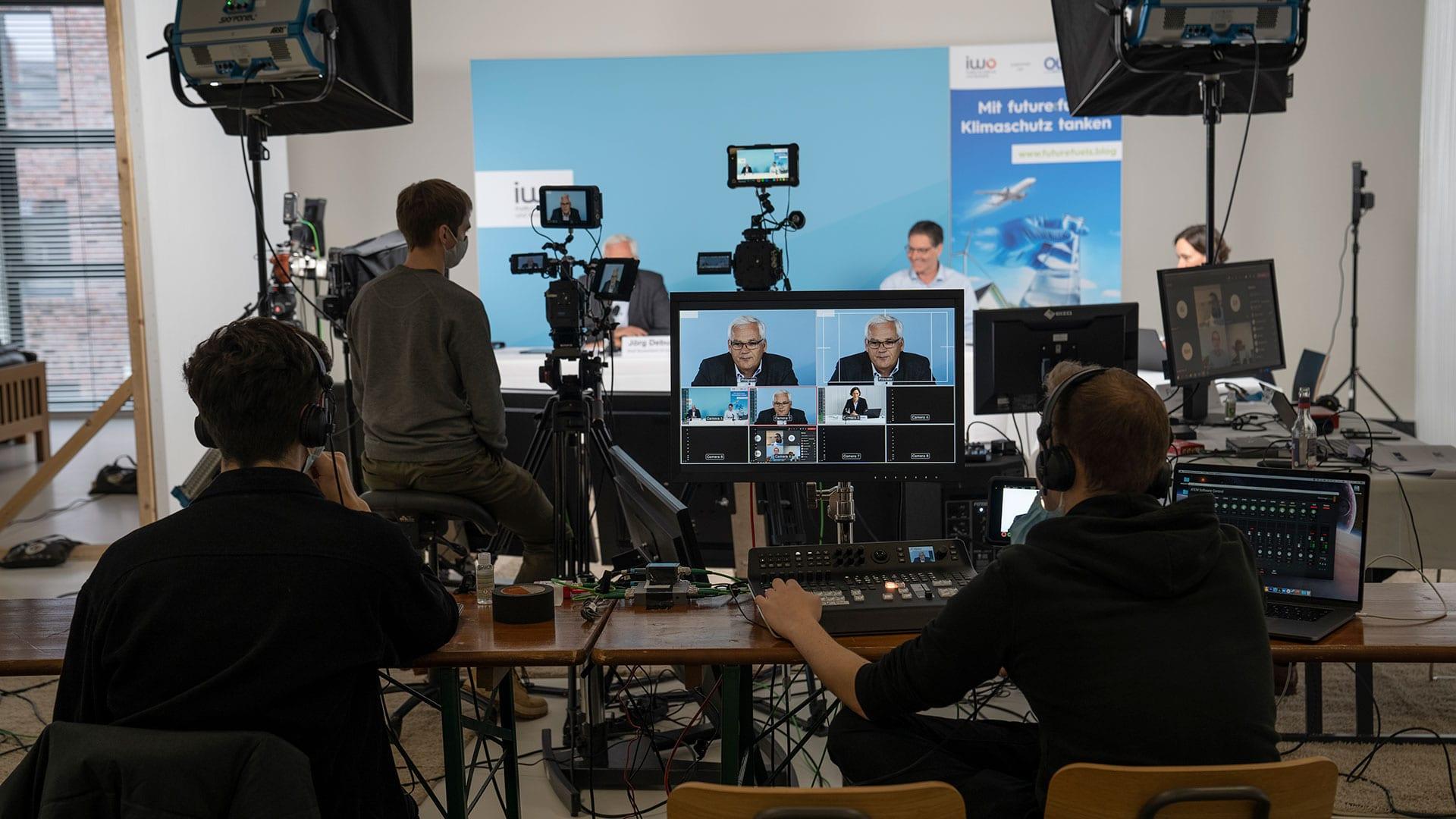 Pressekonferenz Livestream Produktion Hamburg