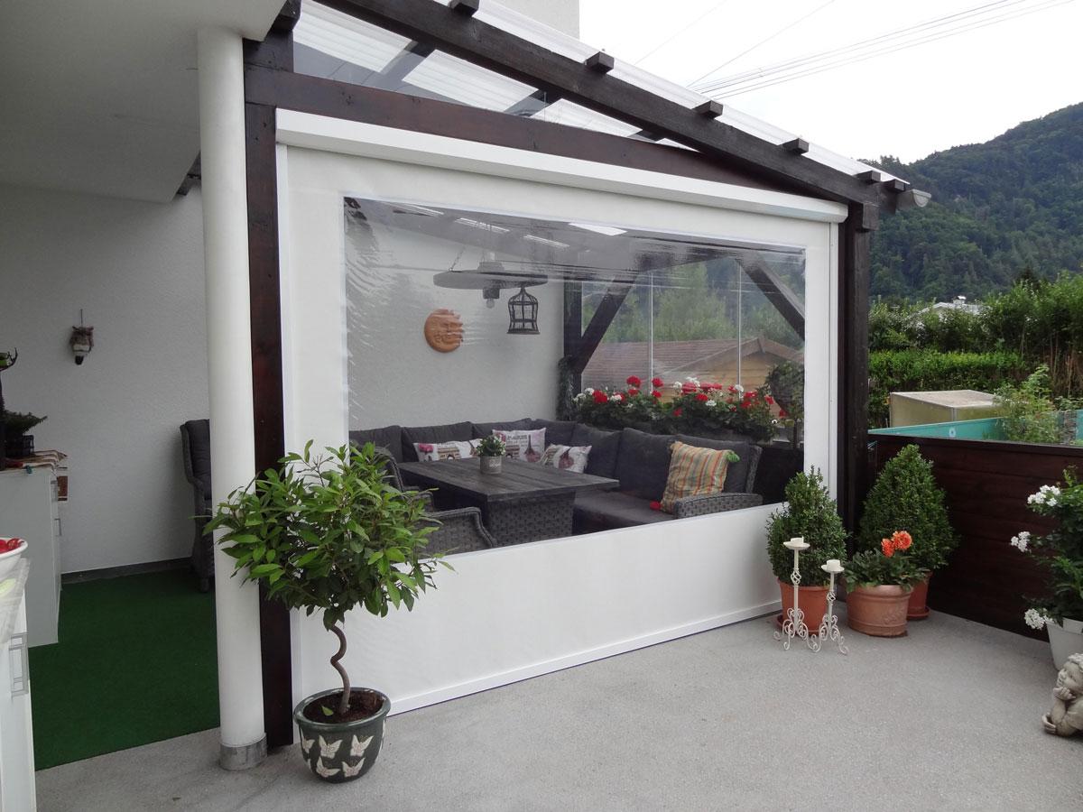 Terrassenrollo Klar Als Allwetterschutz Zum Werkspreis