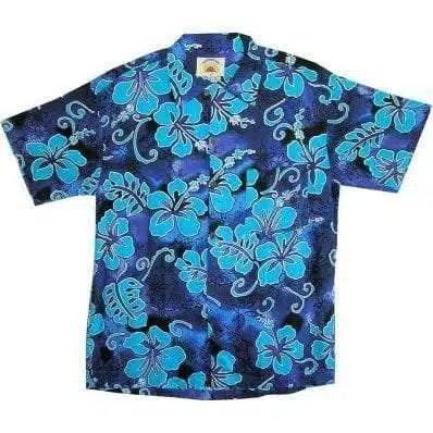 Big Island Hawaiian Shirts - Hibiscus Royal