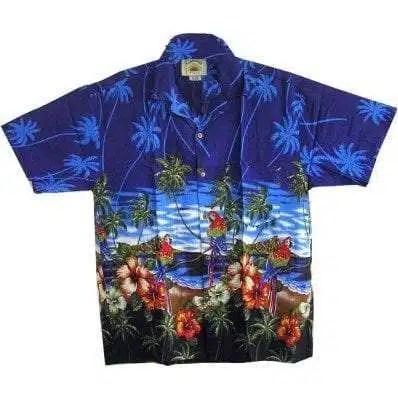 Big Island Hawaiian Shirts - Parrot Blue