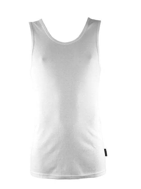Bamboo Singlets by Bamboo Textiles - White