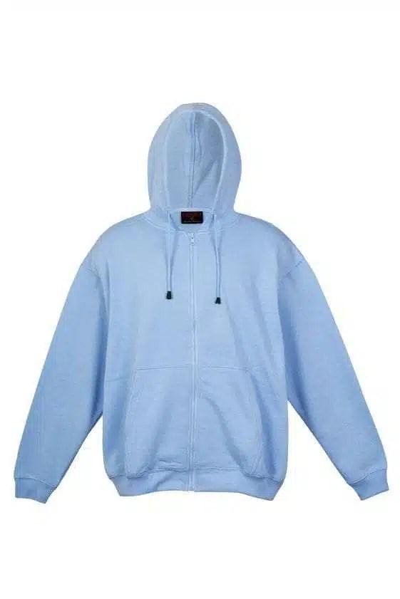 Kangaroo Pocket Hoody Full Zip Sky_Blue