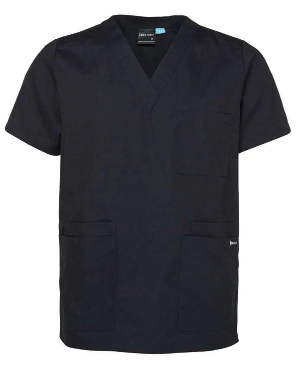 Unisex Scrubs Top- Black