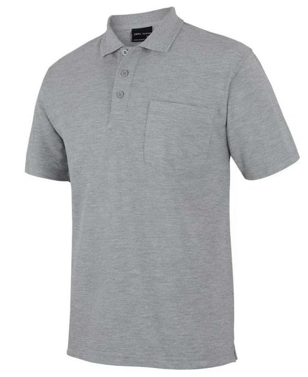Pocket Polo Grey Marle