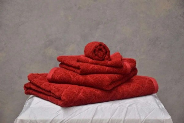 Bamboo Bath Towel Set - Red