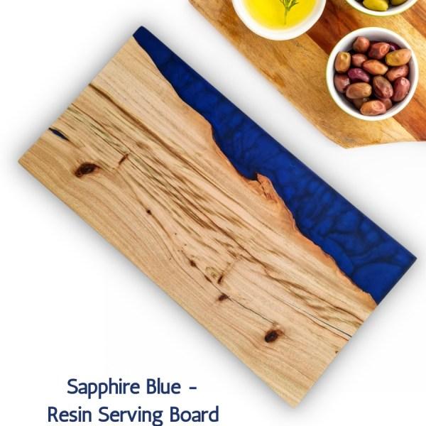 Aussie Camphor - Sapphire-Blue-Resin-Serving-Board