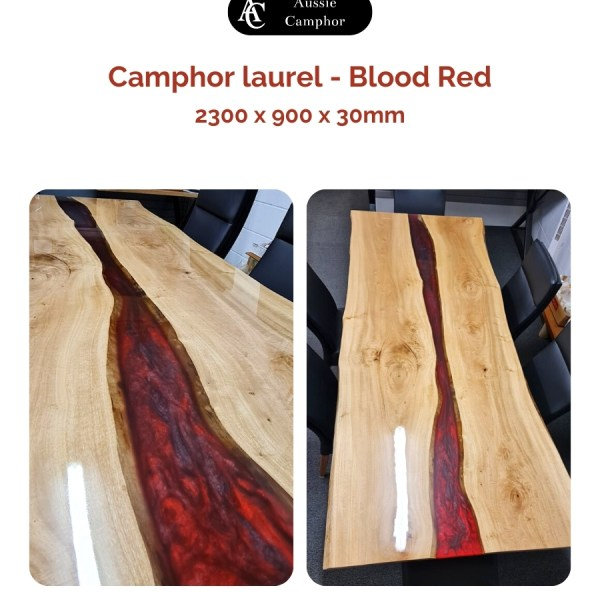 Resin table top, Table top, Aussie Camphor