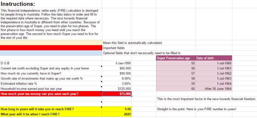 Calculateur d'indépendance financière australienne_2