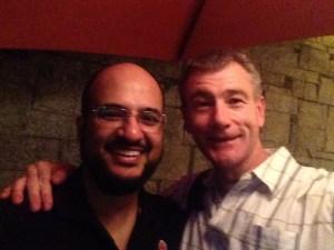 Waqas and Tony in Karachi