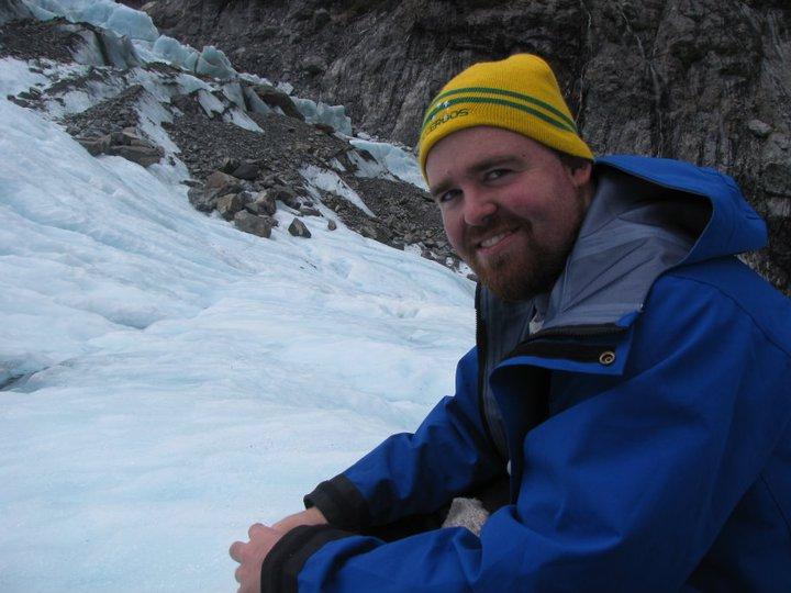 Enjoying my lunch on Franz Josef Glacier
