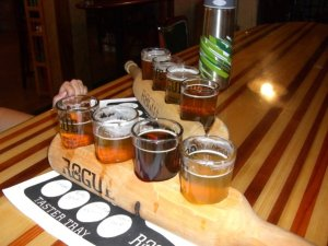 A paddle of fantastic Rogue beers