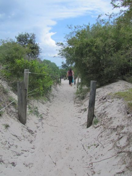 The sandy path up to Jimmy's Beach