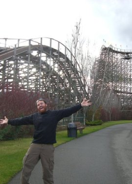 Excited by the rollercoasters at Silverwood
