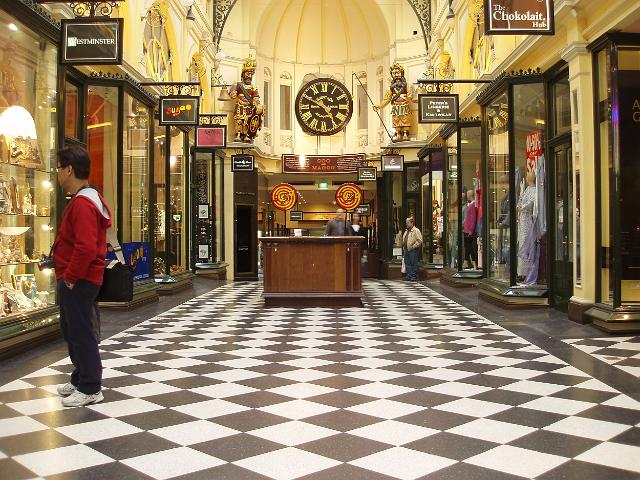 The beautiful Royal Arcade in Melbourne
