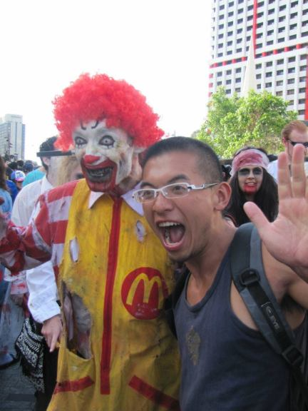 A super creepy Ronald McDonald clown