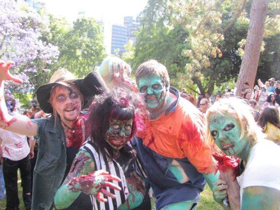 Some very green zombies