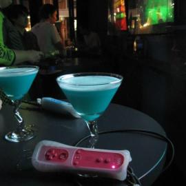 A mana potion and a Wii controller