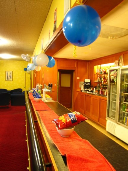 The bar all decorated
