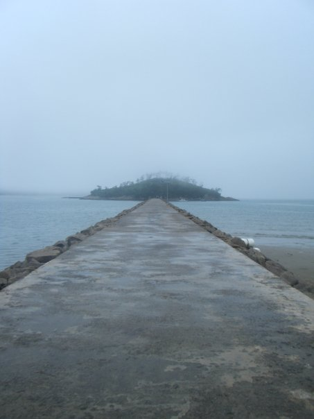 The bridge out to the fishing island off Bigeumdo