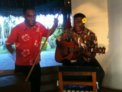 Live music at the Moody Marlin Bar, Mango Bay, Fiji