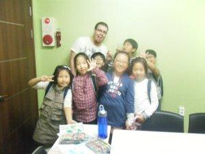 Excited Korean kids