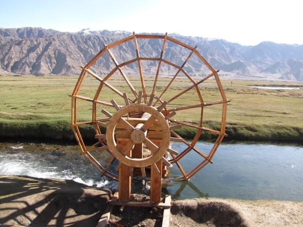water wheel grasslands