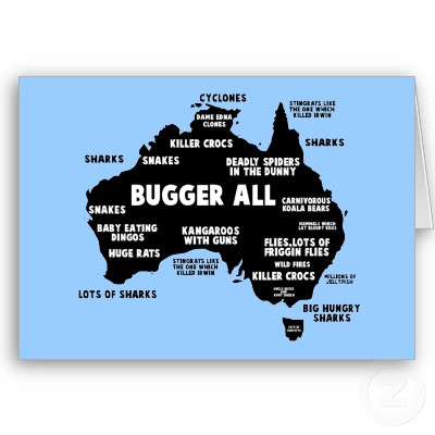 funny australia map