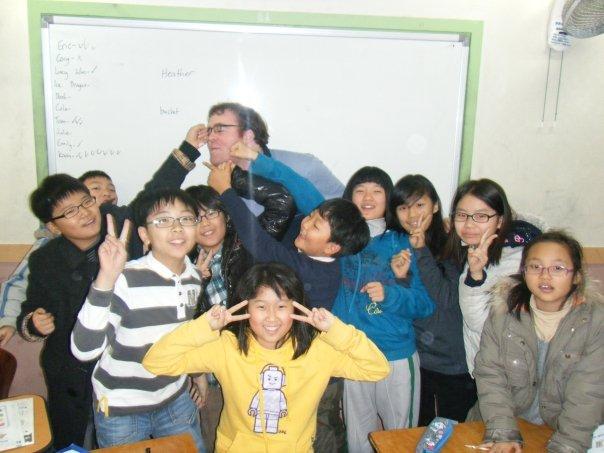 Korean students punching their teacher