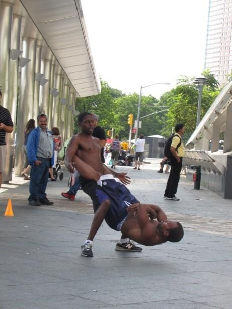 Street performance in New York